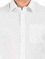 Arrow Contrast Print Slim Fit Shirt
