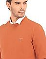 Gant Crew Neck Basketweave Knit Sweater