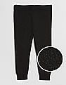 GAP Baby Black Sparkle Sweater Leggings