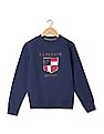 U.S. Polo Assn. Kids Boys Appliqued Crew Neck Sweatshirt